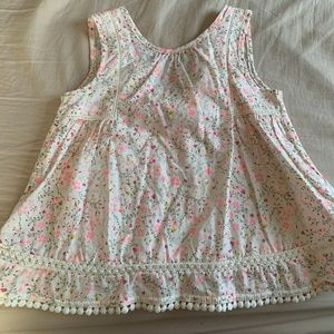 Summer Top Embroidered bottom 4T